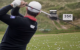 Padraig Harrington's target practice with a driving range ball collector