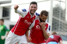 Pat's striker wins decisive penalty against Drogheda — by handling the ball