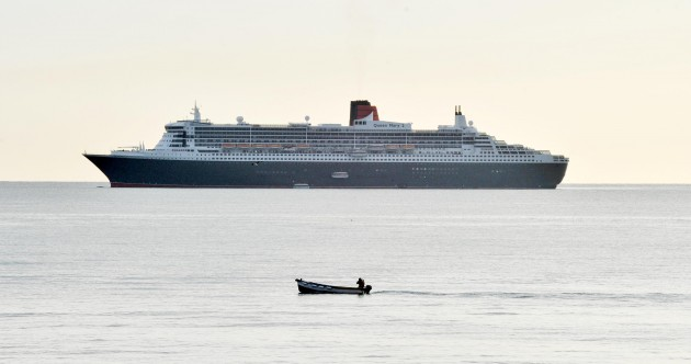 Queen Mary II is in town and she's bringing €500k with her