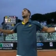 Tennis player&amp;#8217;s epic rant includes hijacking a TV camera and threatening to retire