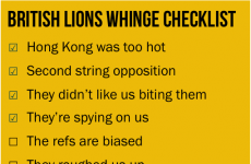 "View from Down Under: Aussies' ""British Lions' whinge checklist"""