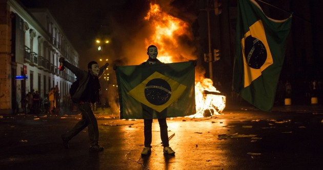 100,000 protest in Brazil over cost of hosting sporting events